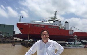 BSE proprietor Justin Parer at Damen Haiphong Shipyard Vietnam