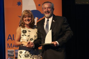 Deputy Mayor Donna Gates with Alan Steber, Steber International