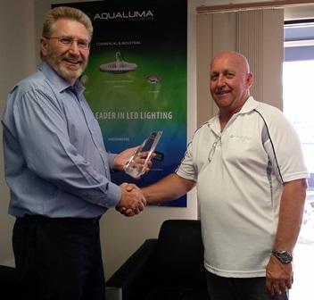 Michael Crandon MP with Aqualuma Director Carl Amor