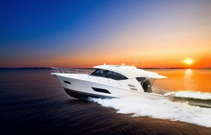 Riviera's 515 SUV makes her Sydney premiere at the Sydney International Boat Show